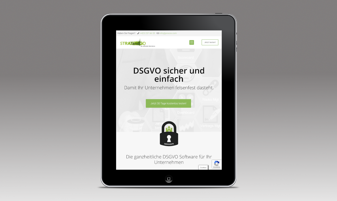 DSGVO-STRATandGO I Webdesign, Wordpress, Full Responsive, Googel Ads