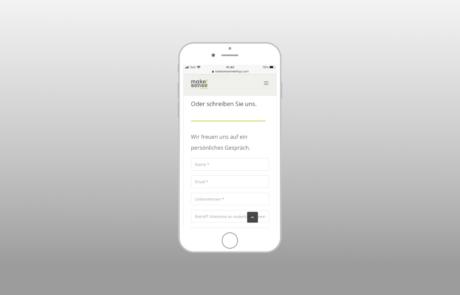 Make!Sense Meetings I Webdesign, Full responsive