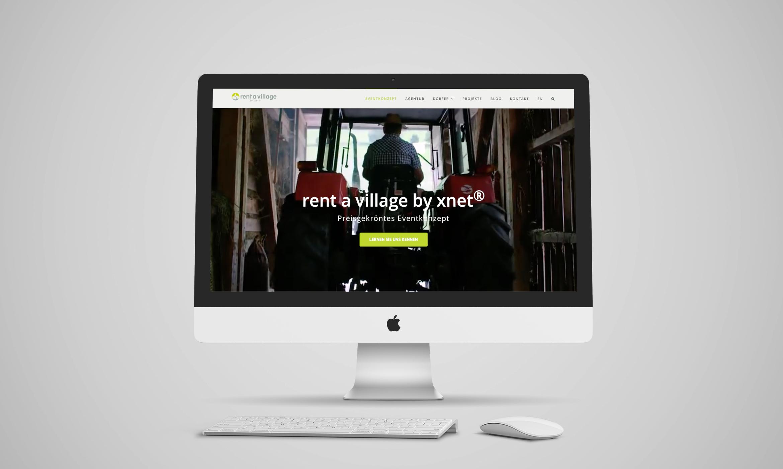 Rent a Village by xnet I Webdesign, Konzeption, SEO, Wordpress